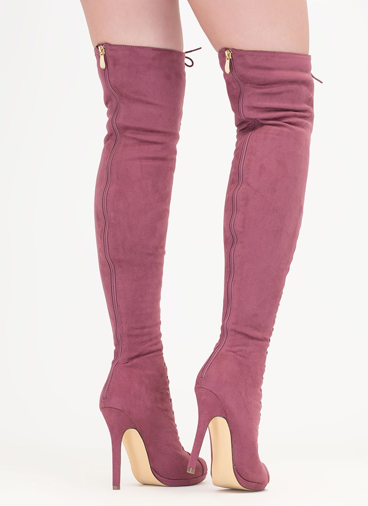 Revamp Faux Suede Over-The-Knee Boots DKMAUVE