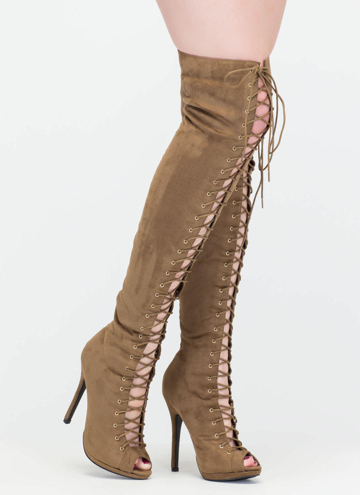 Revamp Faux Suede Over-The-Knee Boots