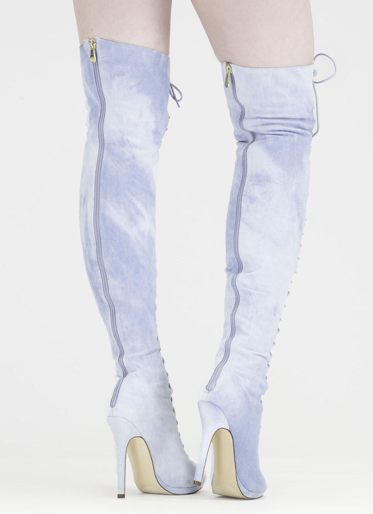 Revamp Denim Over-The-Knee Boots LTDENIM
