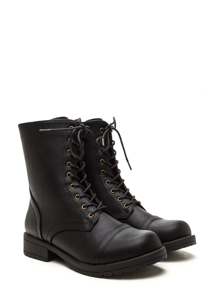 Fashion Operation Combat Boots BLACK (Final Sale)