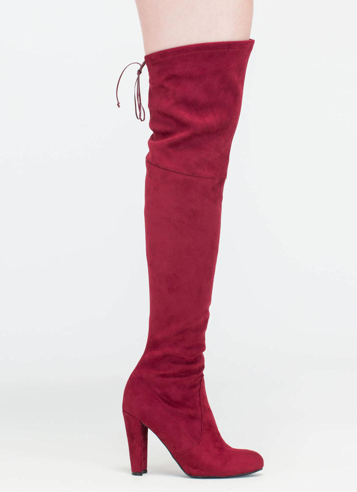 All Legs Over-The-Knee Chunky Boots GREY TAUPE BURGUNDY BLACK ...