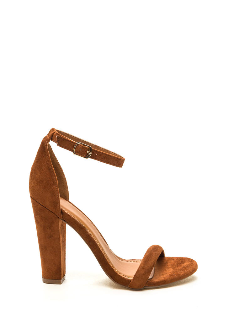 Cushy Lifestyle Chunky Faux Suede Heels