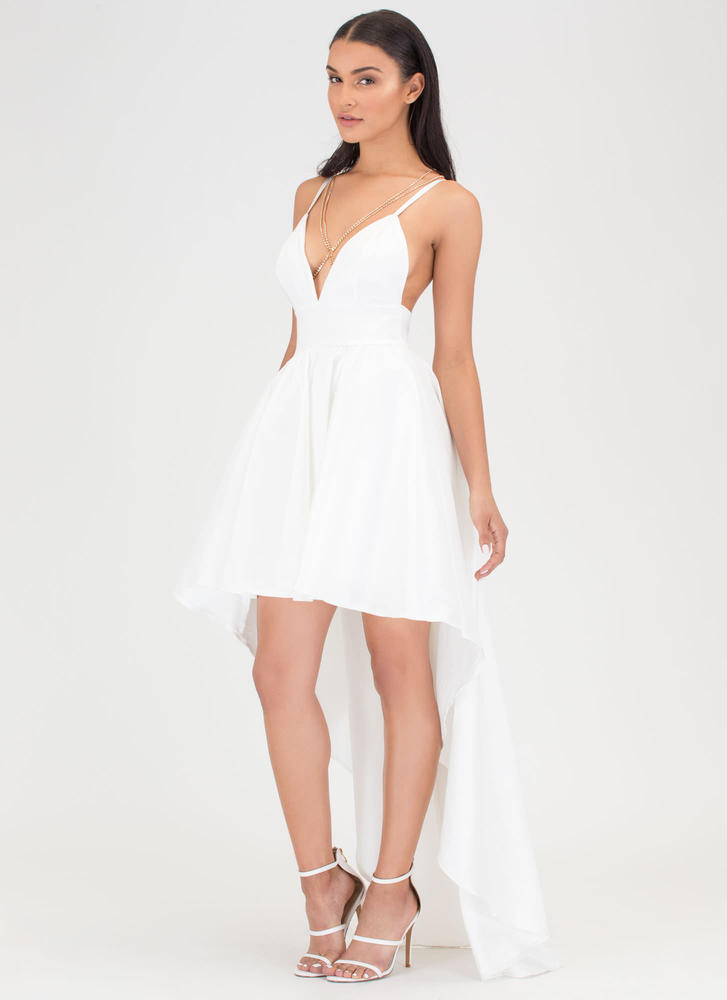 Under The Moonlight High-Low Gown IVORY