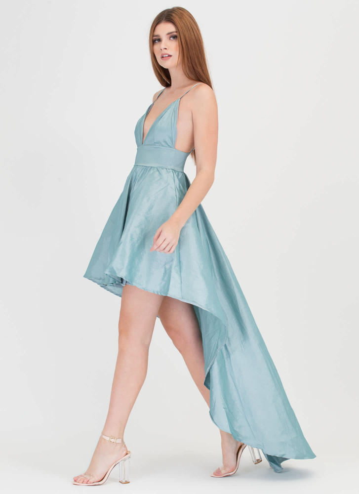 Under The Moonlight High-Low Gown MINT