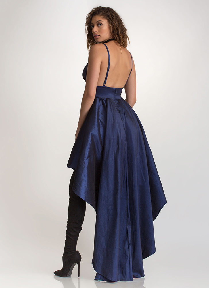 Under The Moonlight High-Low Gown ROYAL