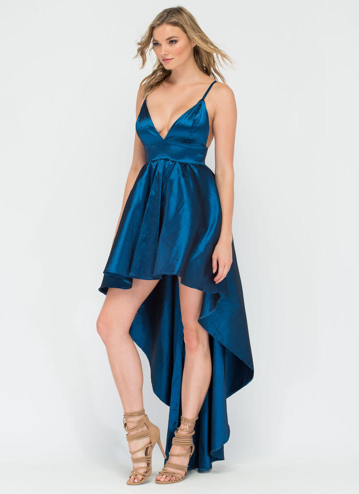 Under The Moonlight High-Low Gown TEAL