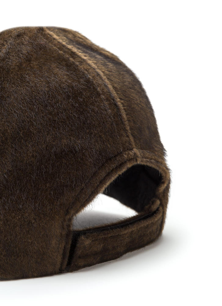 Keep Your Cool Faux Calf Hair Cap BROWN