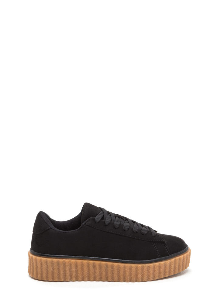 Jeepers Creepers Platform Sneakers BLACK