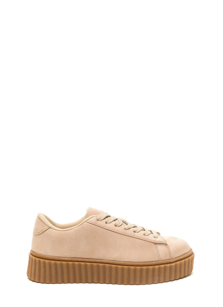 Jeepers Creepers Platform Sneakers NUDE