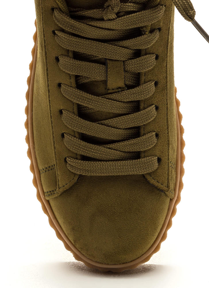 Jeepers Creepers Platform Sneakers OLIVE