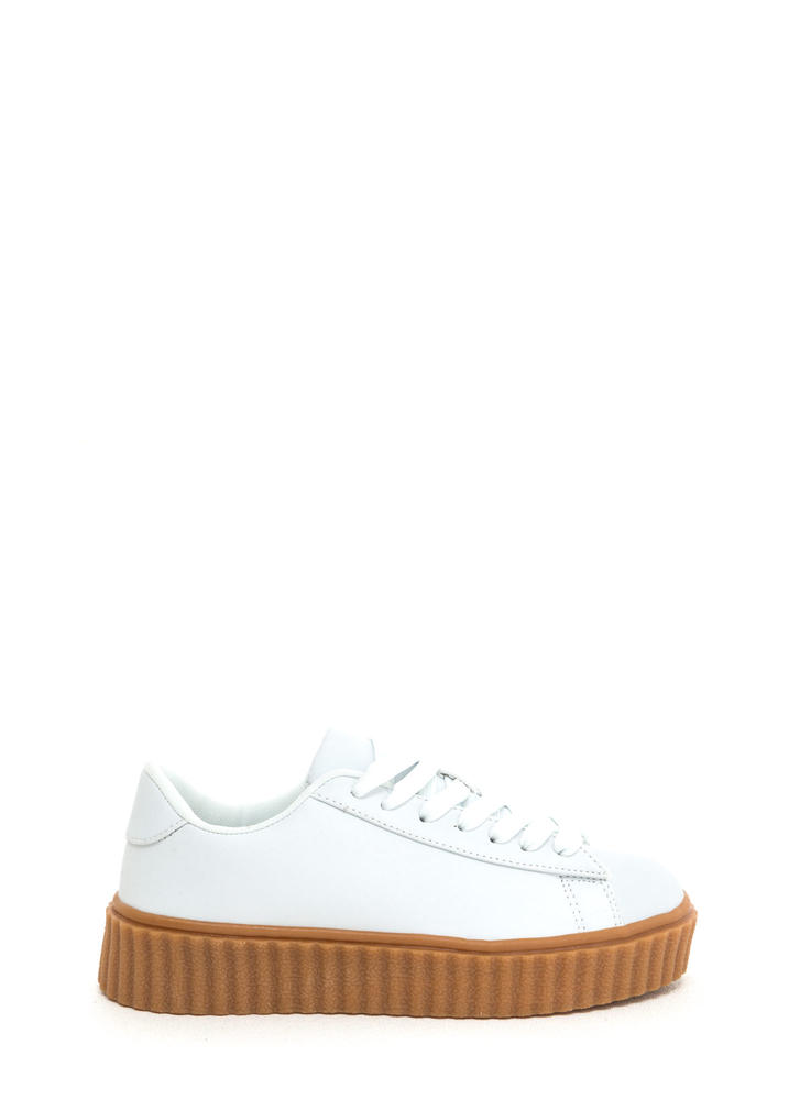 Jeepers Creepers Platform Sneakers WHITE