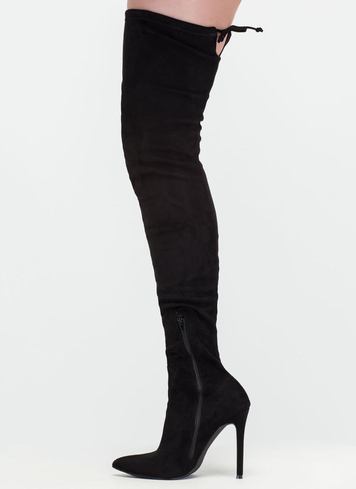 Crush Hard Faux Suede Thigh-High Boots OLIVE BLACK GREY MAROON ...