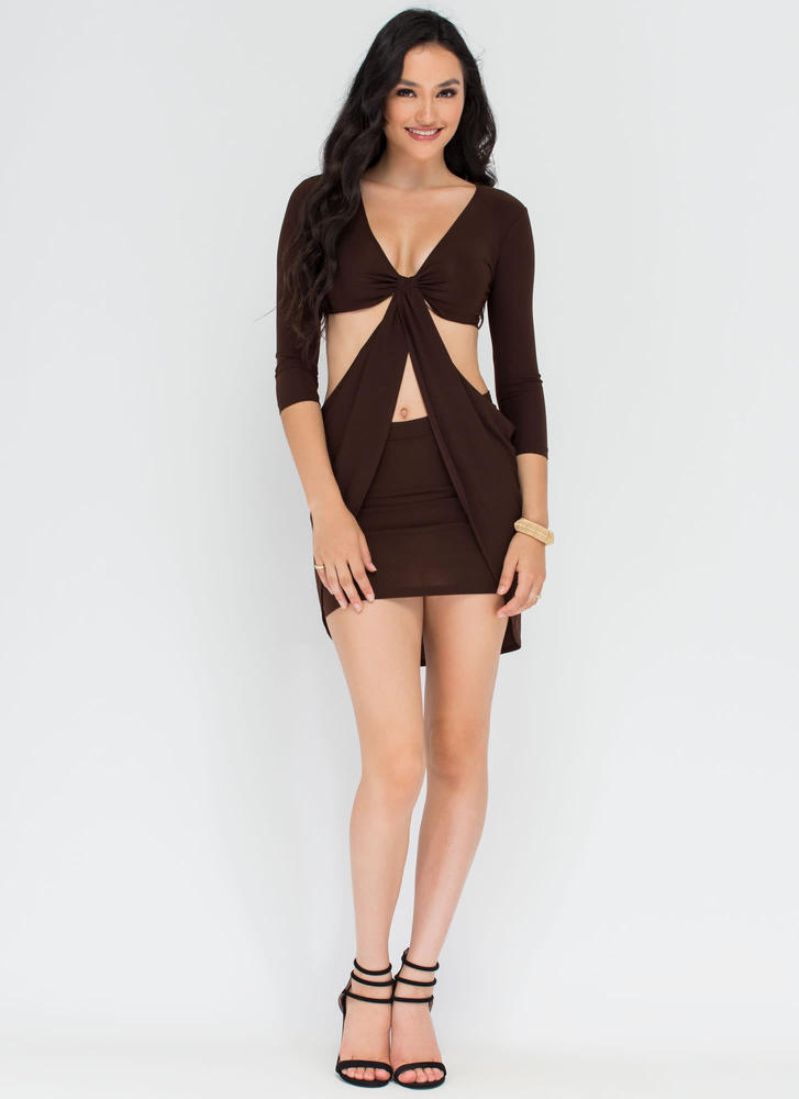 Uptown Twirl Cut-Out Draped Dress