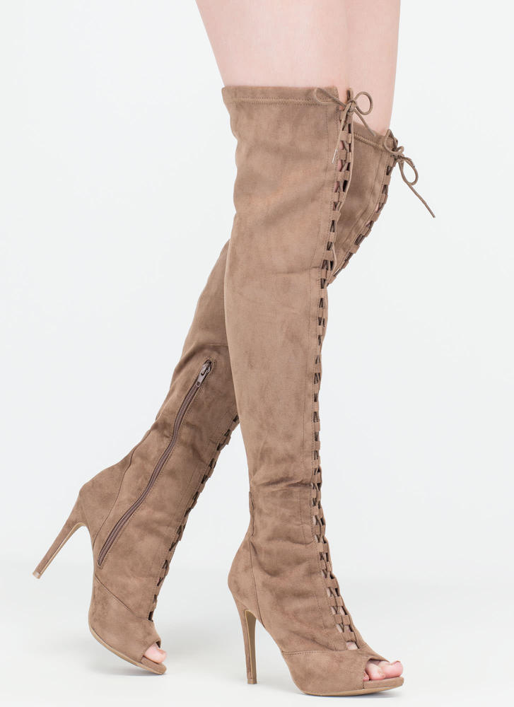 Leg Day Over-The-Knee Lace-Up Boots