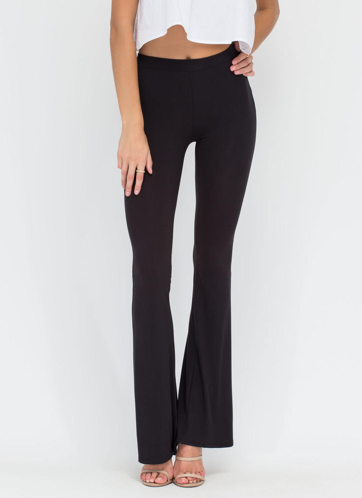 Dare To Be Flared Knit Pants BLACK