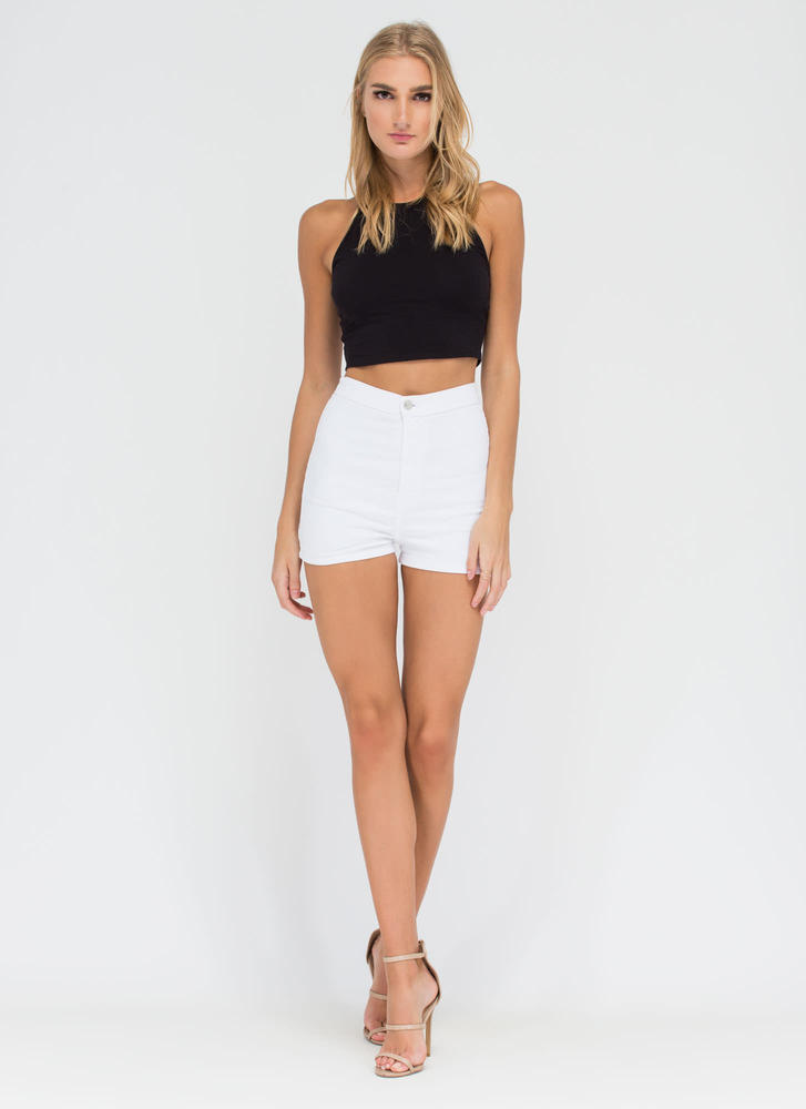 90s Baby Cropped Tank BLACK