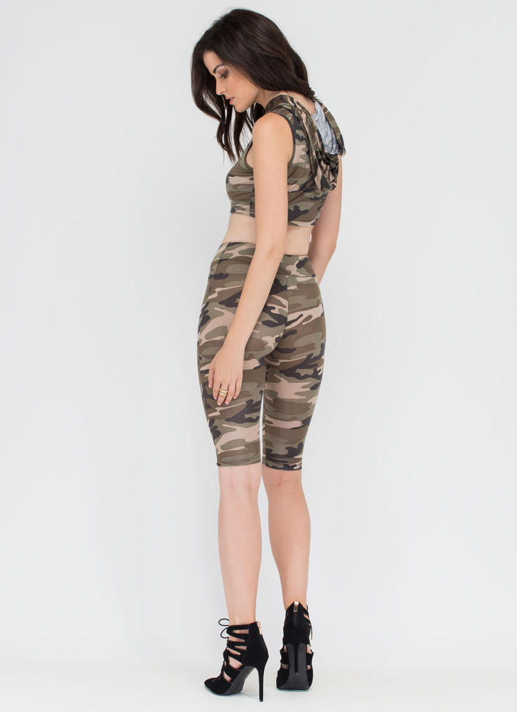 On A Mission Camo Crop Top 'N Shorts Set CAMOUFLAGE (Final Sale)