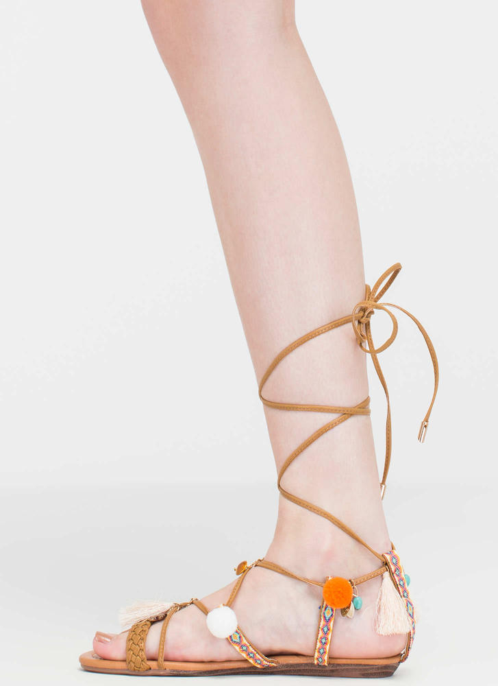 Just For Decoration Lace-Up Sandals LTTAN