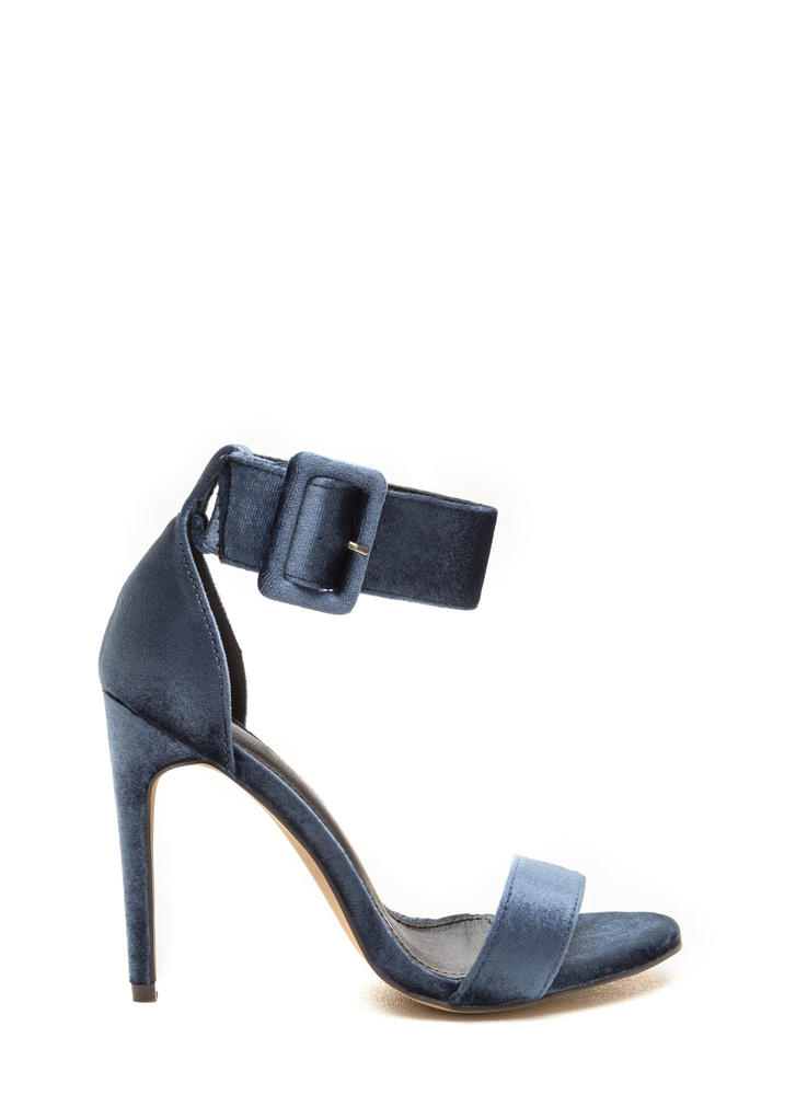 So Luxe Strappy Velvet Heels