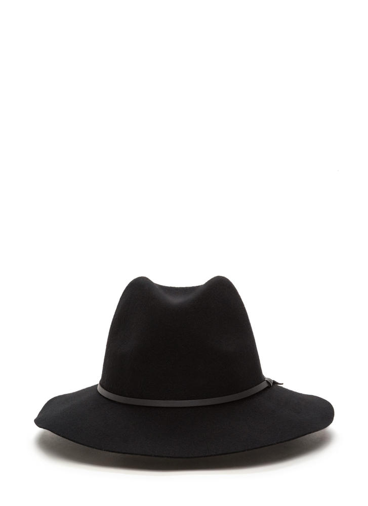 Top It Off Wool Fedora Hat BLACK (Final Sale)