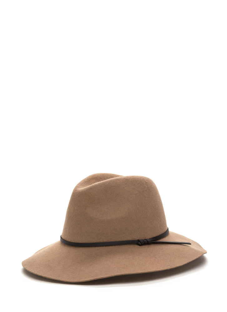 Top It Off Wool Fedora Hat TAUPE