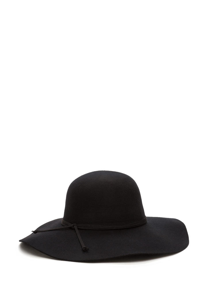 Strike A Pose Wide Brim Wool Hat