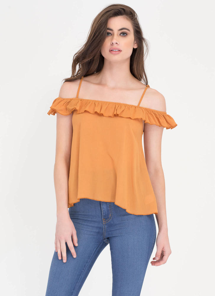 Frill Power Ruffled Flared Top