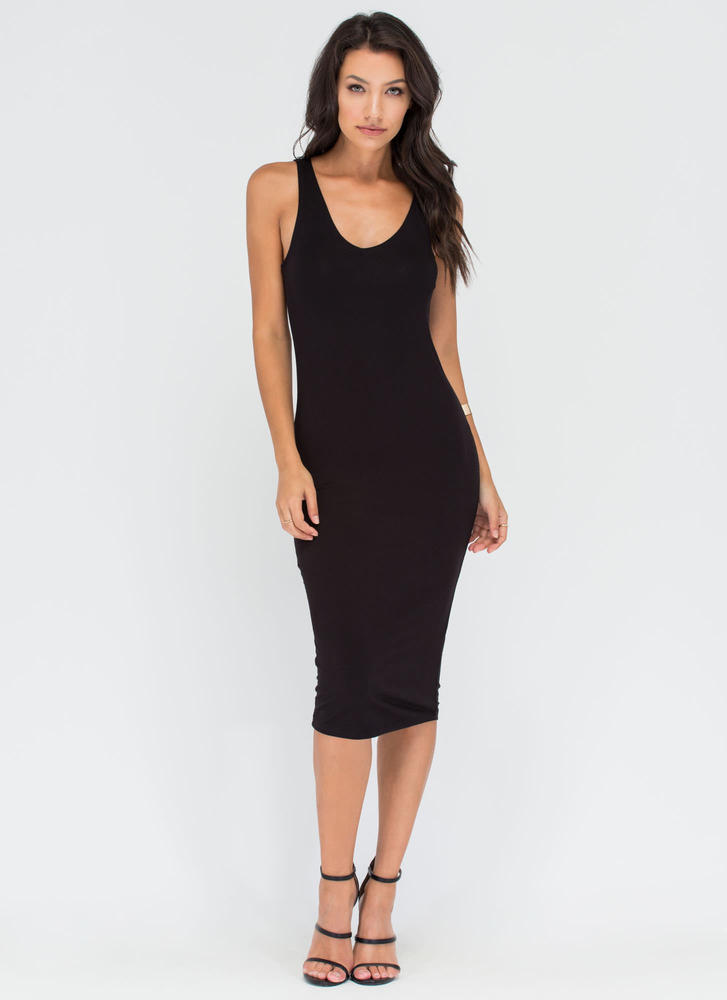 To V Or Not To V Midi Tank Dress