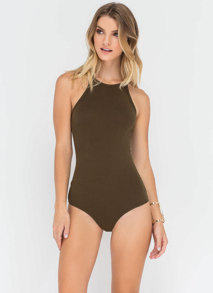 Foolproof Style Narrow Bodysuit OLIVE