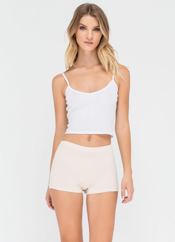 Start From The Bottom Fitted Shorts CREAM