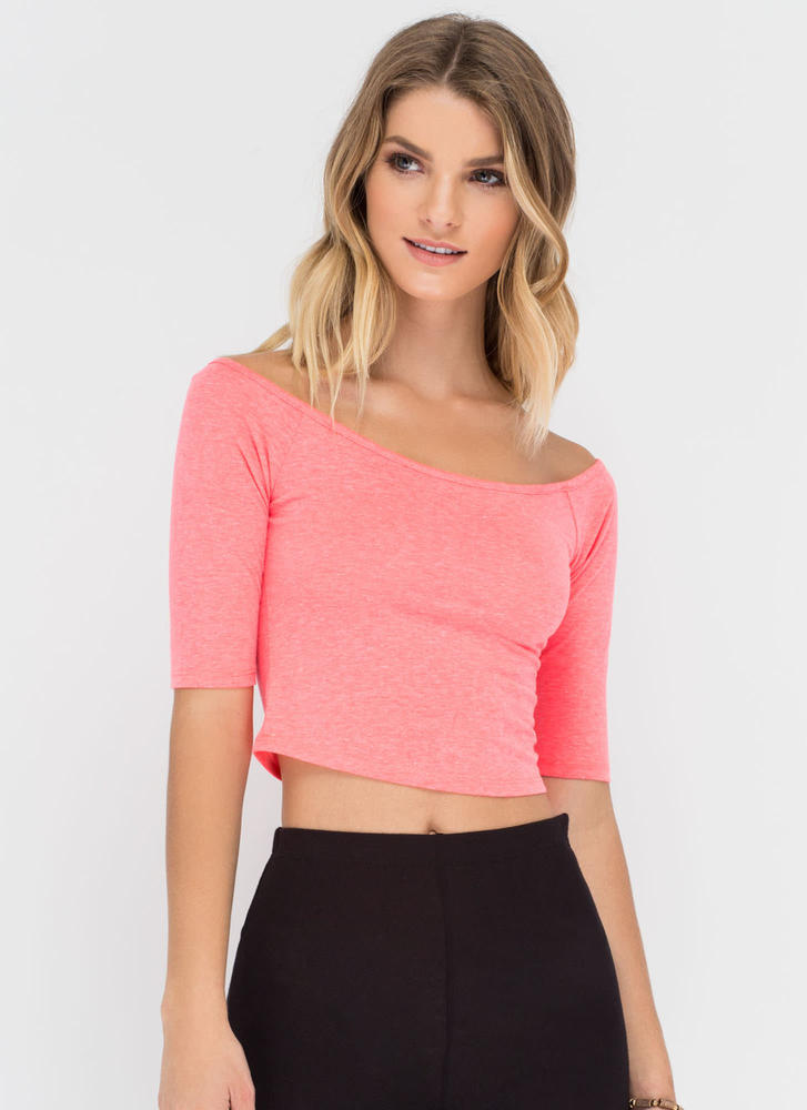 So X-tra Cut-Out Crop Top NEONPINK