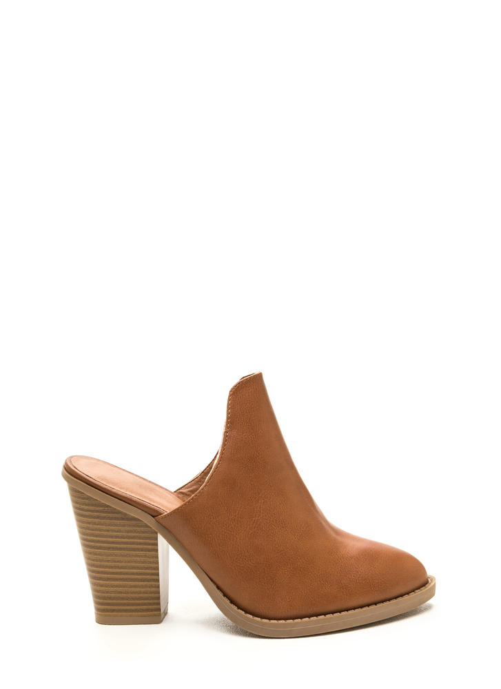 Case In Point Chunky Mule Heels