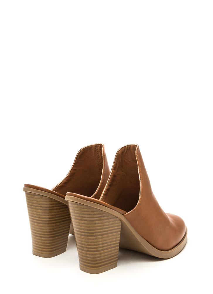 Case In Point Chunky Mule Heels WHISKY (Final Sale)
