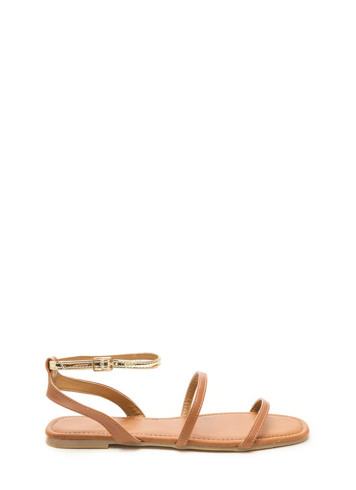 Feet First Metallic Strap Sandals TANGOLD