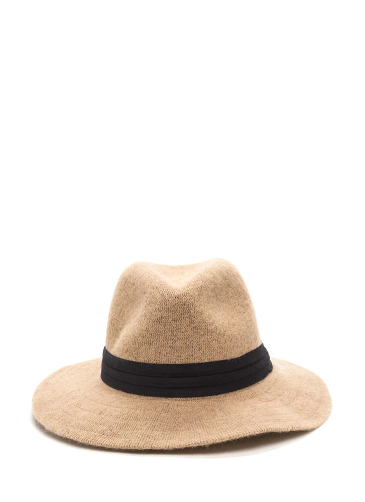 Day In Day Out Wool Fedora Hat BEIGE