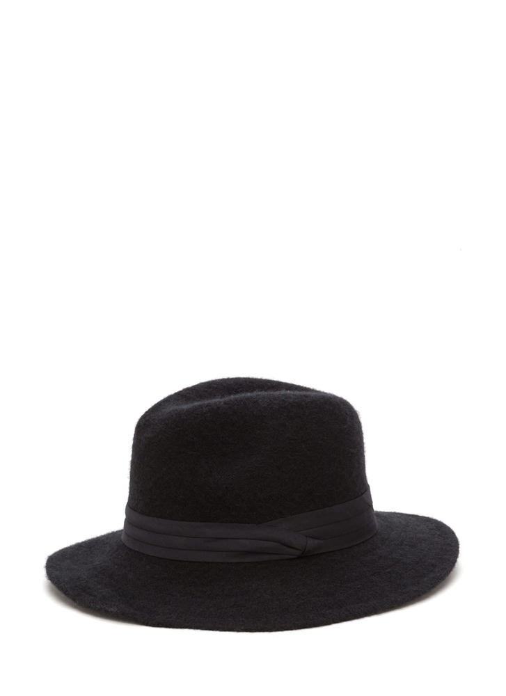 Day In Day Out Wool Fedora Hat BLACK