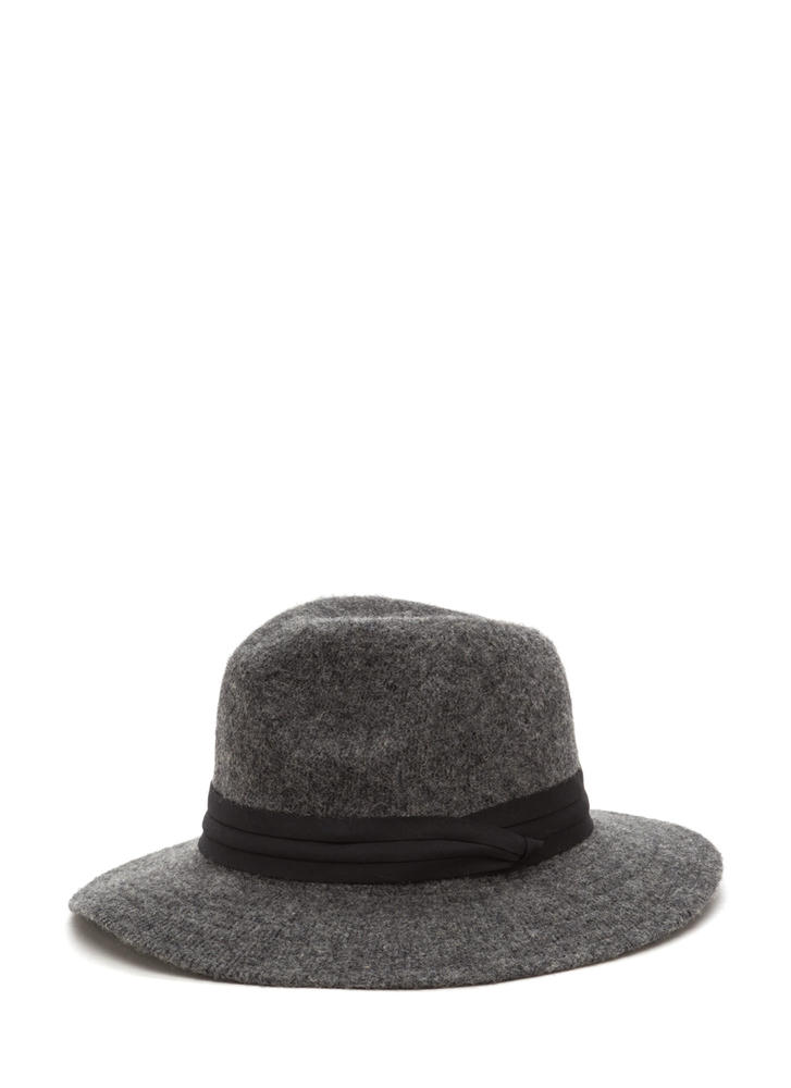 Day In Day Out Wool Fedora Hat GREY