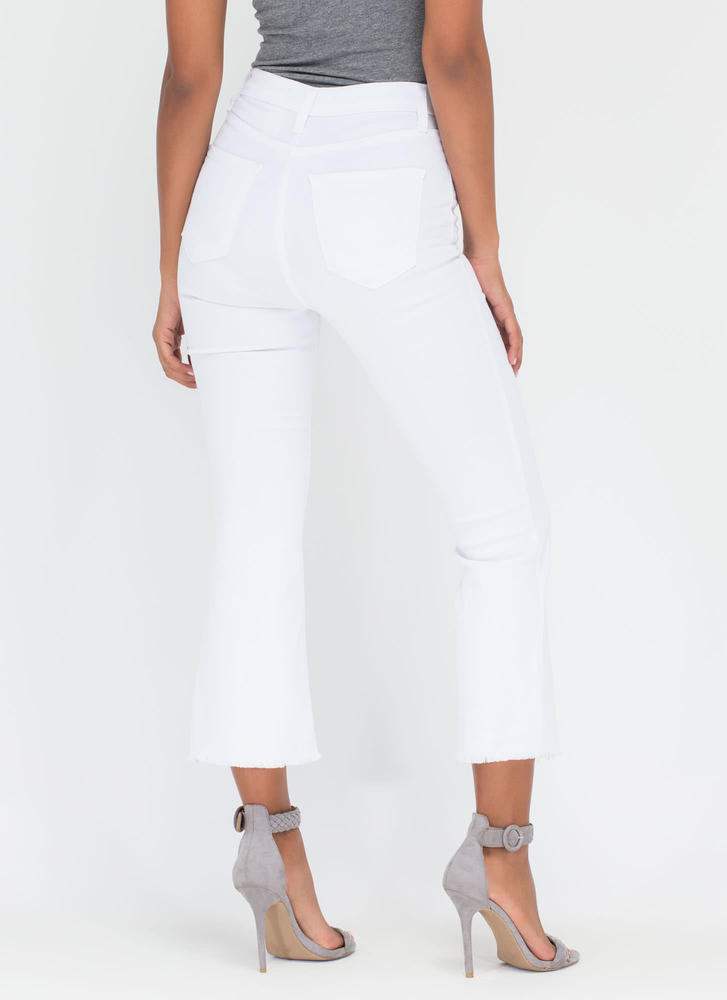 Chic Intro Flared Crop Jeans WHITE (Final Sale)
