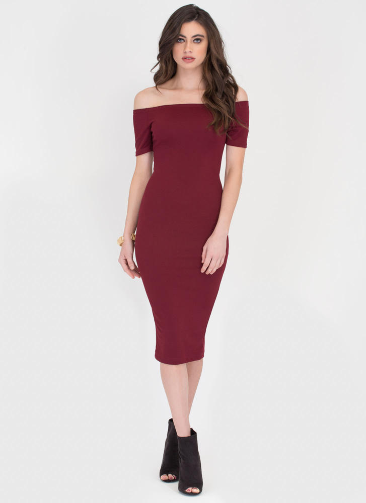 Bardot Babe Off-Shoulder Midi Dress
