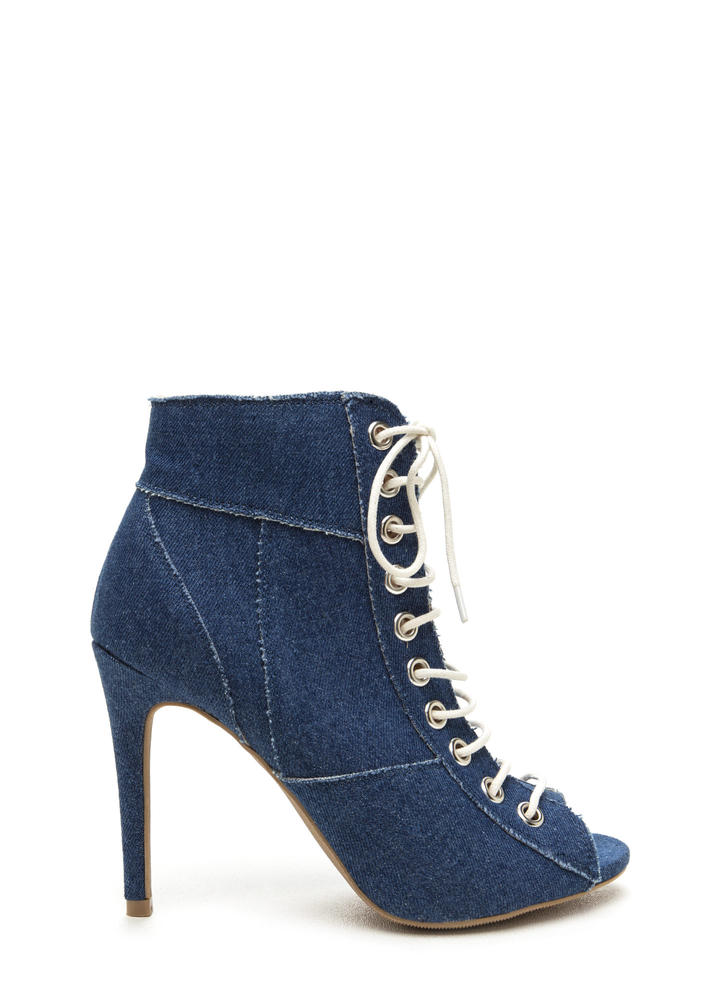 Day To Denim Lace-Up Booties