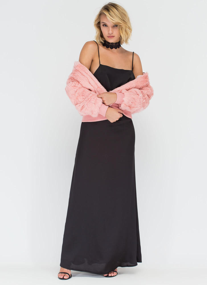 Give &39Em The Slip Maxi Dress BLACK PINK - GoJane.com