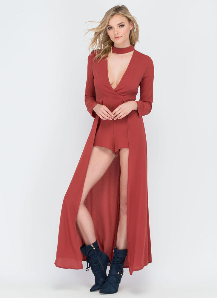 Above And Beyond Plunging Maxi RUST