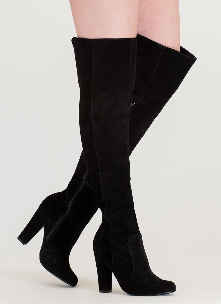 Walking Tall Over-The-Knee Boots NUDE BLACK PINK MOCHA MAUVE ...