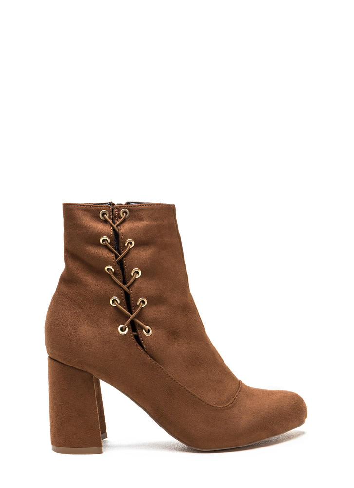 Lace To The Top Chunky Booties