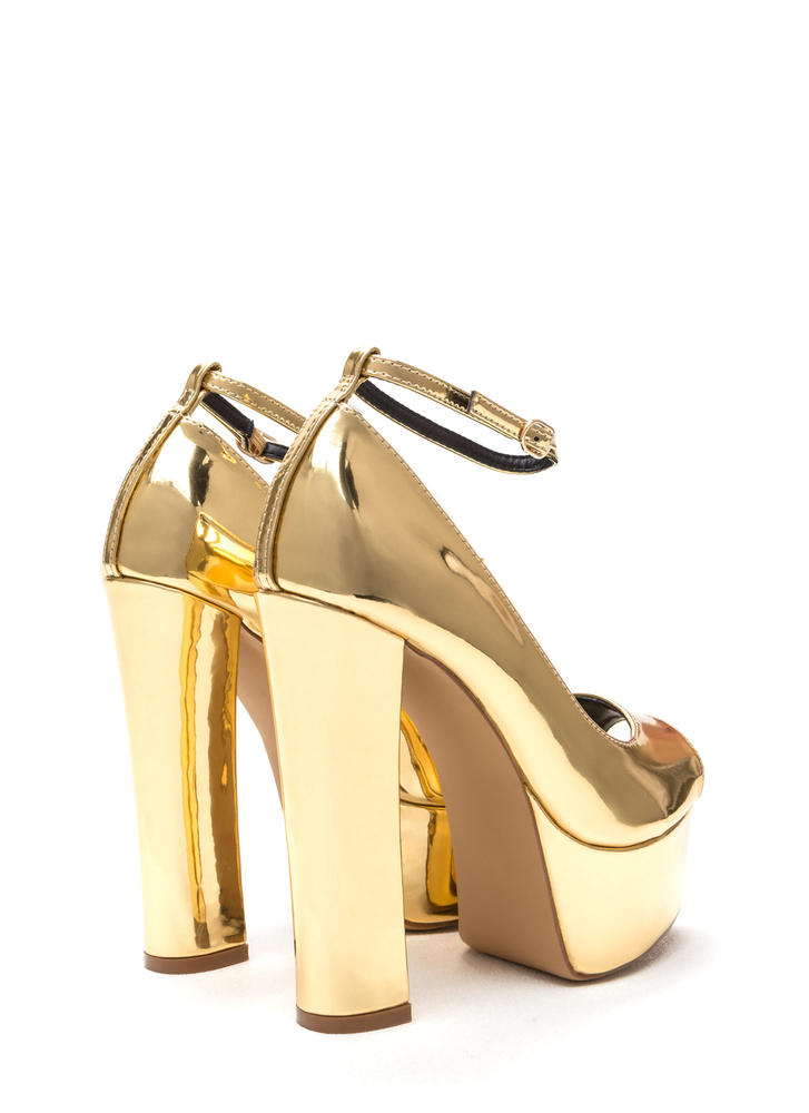 So Groovy Shiny Chunky Platforms GOLD