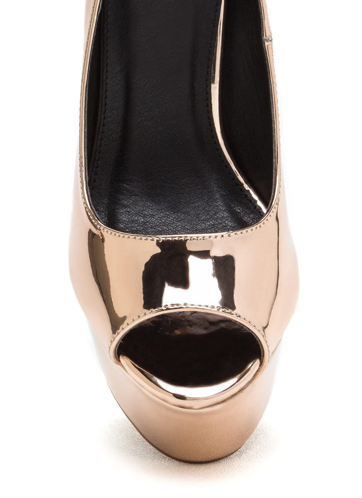 So Groovy Shiny Chunky Platforms ROSEGOLD