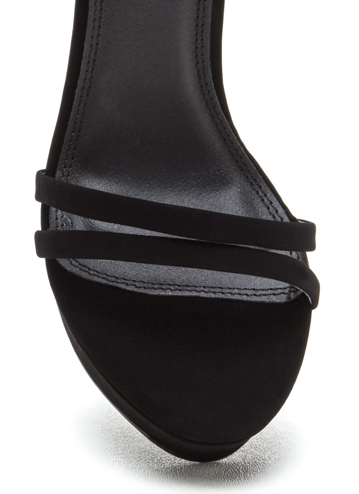 Sky's The Limit Faux Nubuck Wedges BLACK