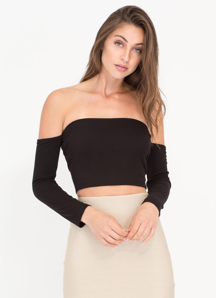 It Takes Tube Off-Shoulder Crop Top