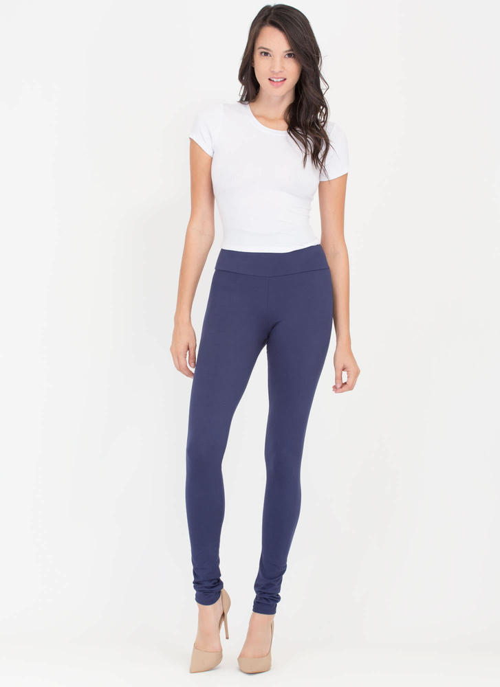 Back 2 Basics Knit Leggings NAVY