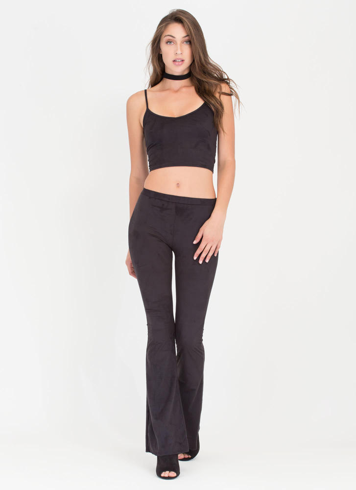 Total Package Top 'N Flared Pants Set BLACK (Final Sale)